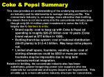 coke pepsi summary