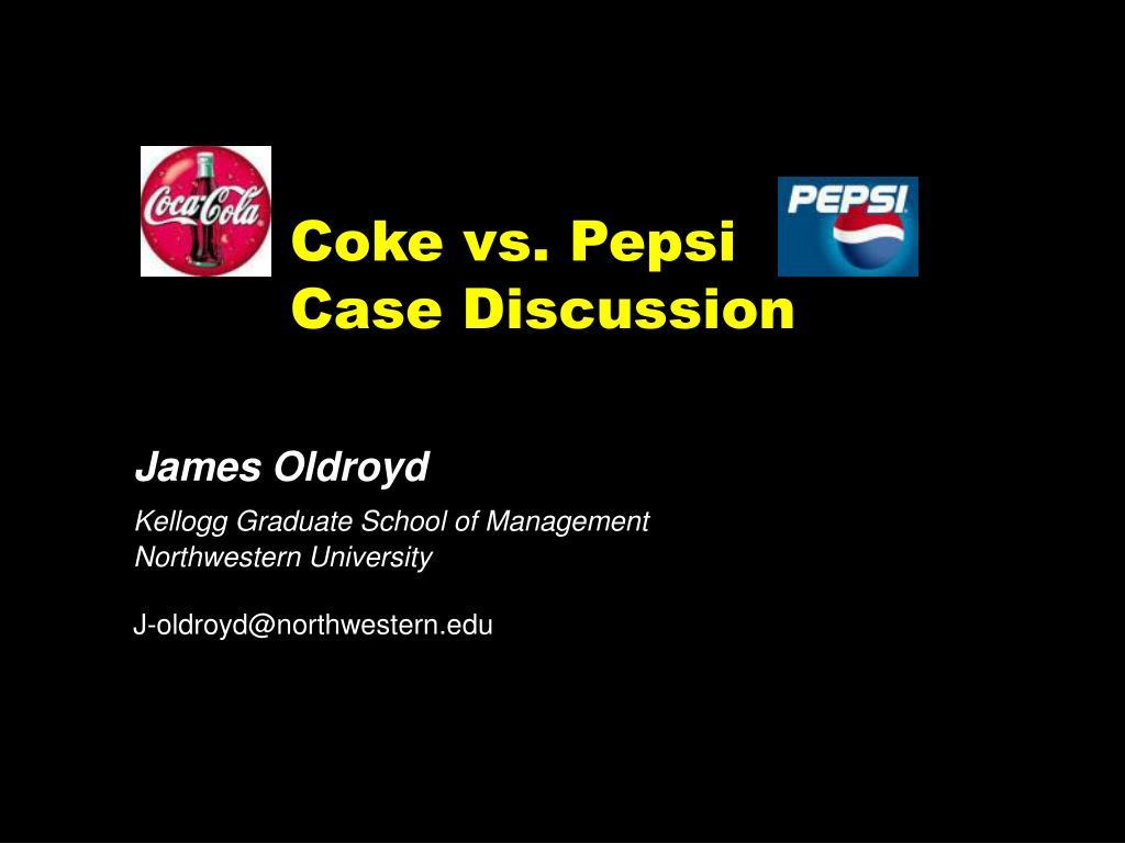 coke vs pepsi case discussion l.