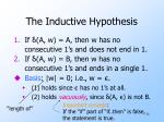 the inductive hypothesis