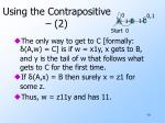 using the contrapositive 2