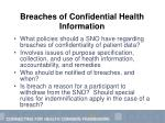 breaches of confidential health information23