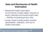 uses and disclosures of health information