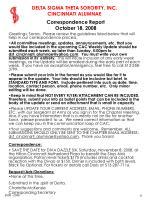 correspondence report october 18 2008