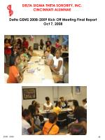 delta gems 2008 2009 kick off meeting final report oct 7 200846