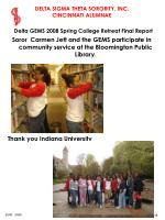 delta gems 2008 spring college retreat final report38