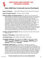 delta gems may community service final report