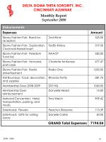 monthly report september 200821
