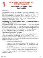 nominating committee report october 2008