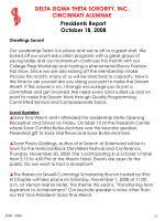 presidents report october 18 2008