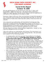 social action report october 18 2008