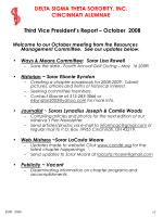 third vice president s report october 2008