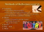 methods of reflection cont d