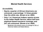 mental health services14