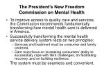 the president s new freedom commission on mental health