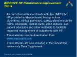 improve hf performance improvement tools