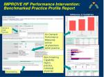 improve hf performance intervention benchmarked practice profile report