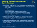 methods guideline recommended quality measures