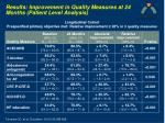 results improvement in quality measures at 24 months patient level analysis