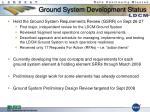 ground system development status