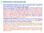 1 definizioni internazionali