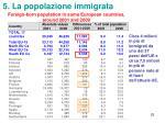 5 la popolazione immigrata