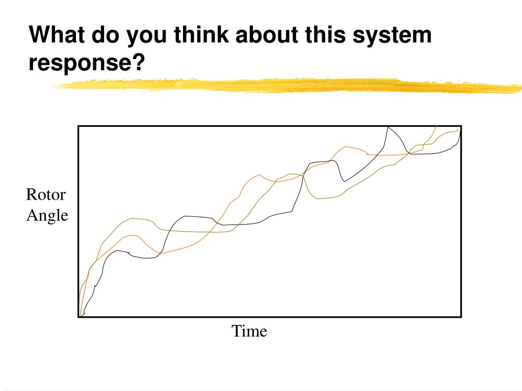 what do you think about this system response l.
