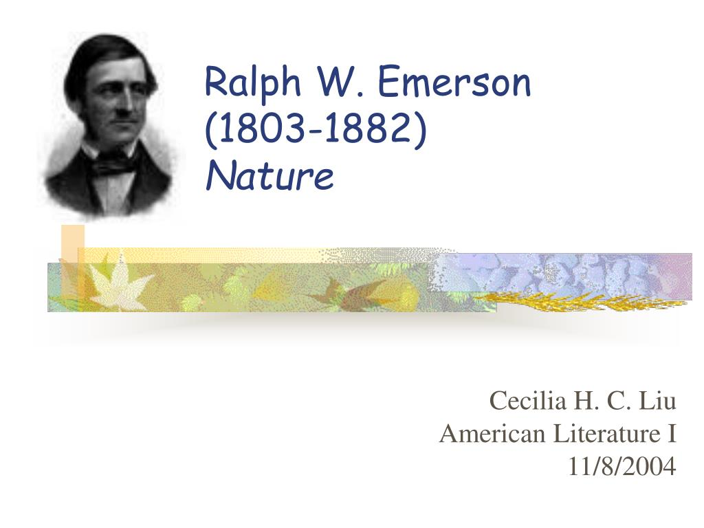 ralph w emerson 1803 1882 nature l.