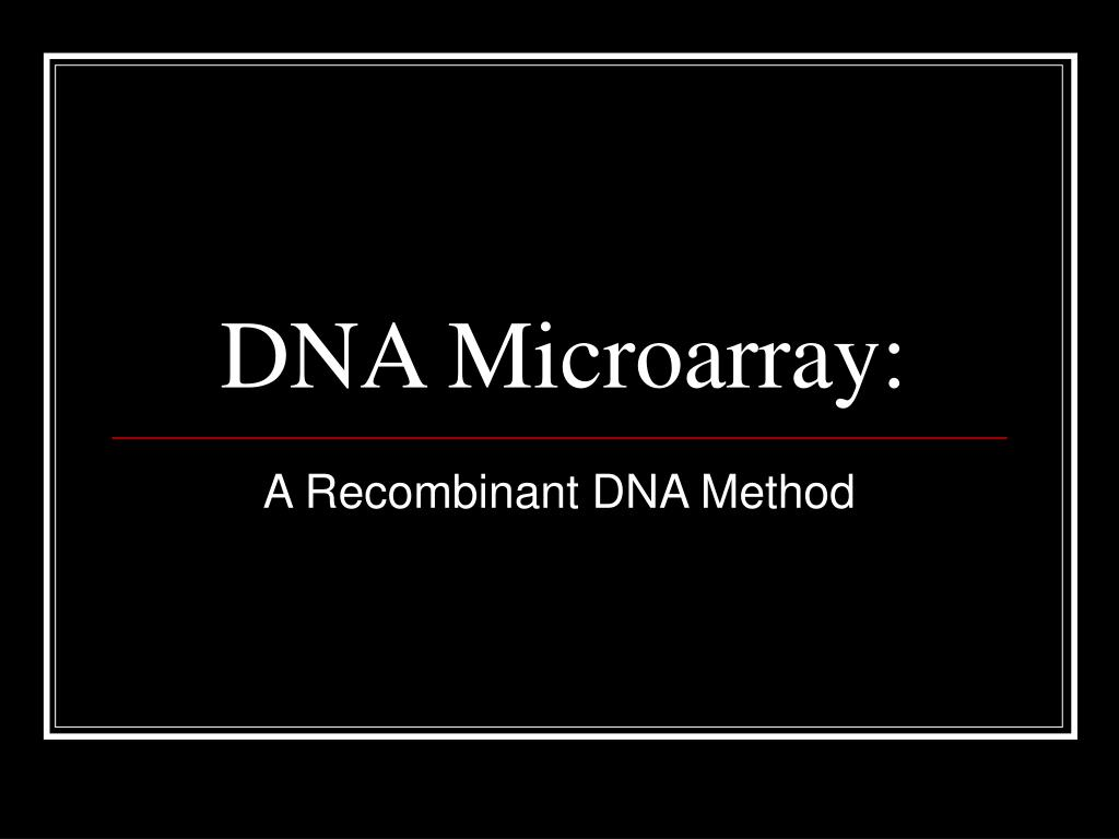 dna microarray l.