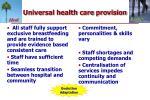 universal health care provision