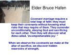 elder bruce hafen