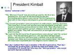 president kimball