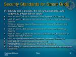 security standards for smart grids