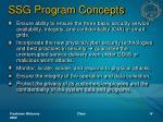 ssg program concepts