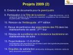 projets 2009 2