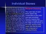 individual stones