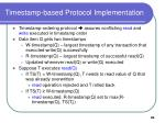timestamp based protocol implementation