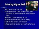 joining opus dei
