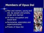 members of opus dei