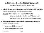 allgemeine gesch ftsbedingungen ii general terms and conditions