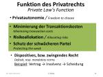 funktion des privatrechts private law s function