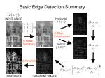 basic edge detection summary