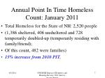 annual point in time homeless count january 2011