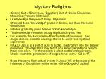 mystery religions