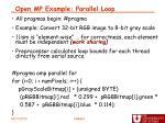 open mp example parallel loop