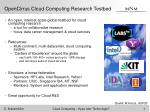 opencirrus cloud computing research testbed