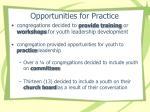 opportunities for practice