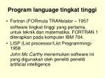 program language tingkat tinggi