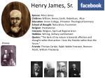 henry james sr