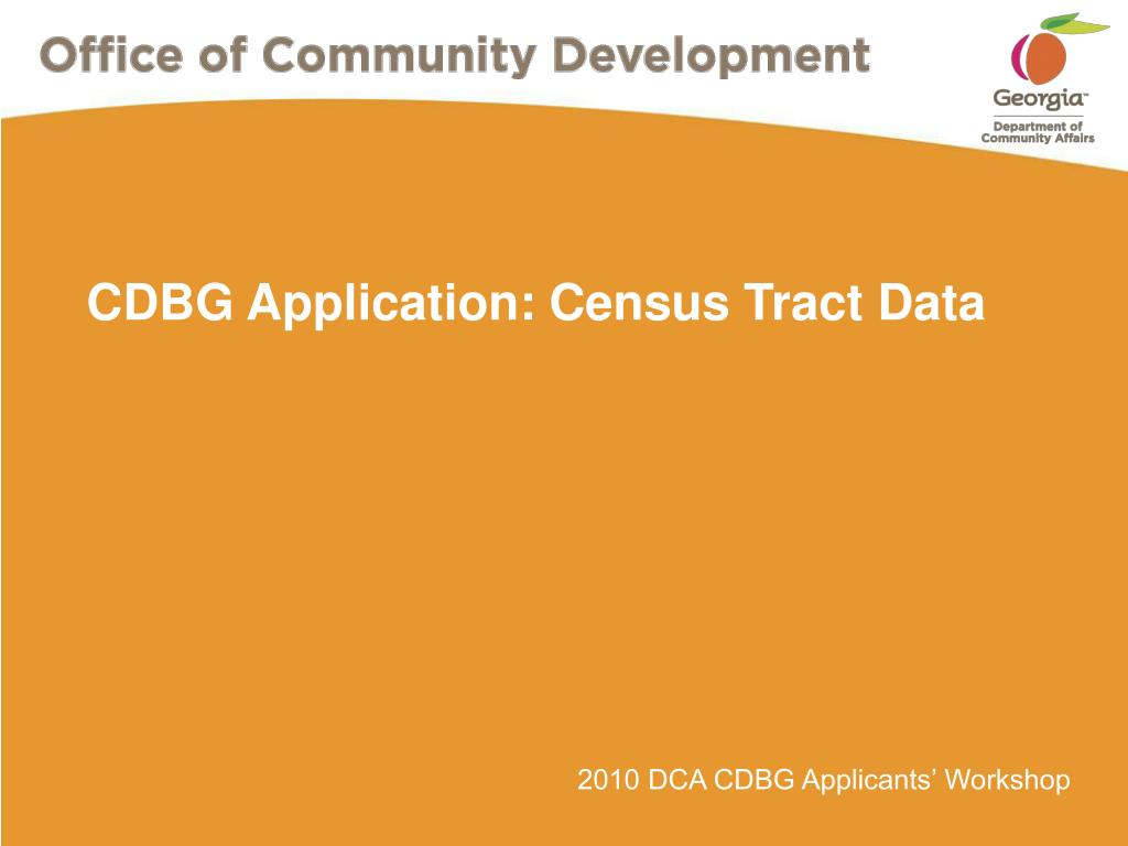cdbg application census tract data l.