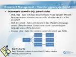 document management how documents are stored